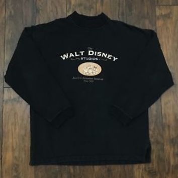 The Disney Store Walt Disney Studios Mickey Donald Crewneck Sweatshirt Men Large