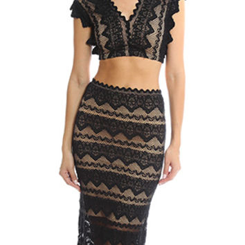 Nightcap Sierra Lace Crop Top