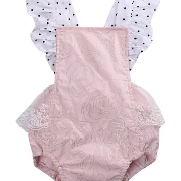 Cotton Newborn Infant Baby Girls Sleeveless Romper