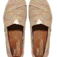Toms Multi Burlap Flat Shoes