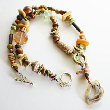 Mixed Bead Necklace, Jewelry to make you smile, Treat Yourself, Toggle Clasp, Teacher Gift, Friend Gift, CoWorker Gift, Holiday Gift