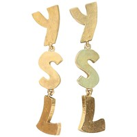 1990s Yves Saint Laurent stunning YSL gilded metal earrings
