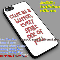 Cute as a Button Every | Every Single One | 1 Direction iPhone 6s 6 6s+ 6plus Cases Samsung Galaxy s5 s6 Edge+ NOTE 5 4 3 #music #1d dl2