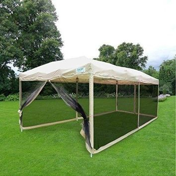 Outdoor Pop up Canopy Gazebo Patio Mesh Side Wall Screen House With Carry BAG