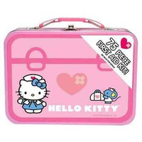 kIDS HELLO KITTY 75 Piece First Aid Kit With Collectible Tin Case | eBay
