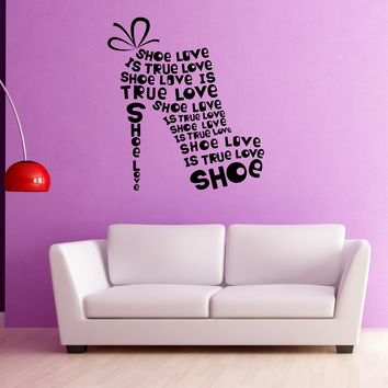Large Vinyl Decal Wall Sticker Footwear Woman Shoe from Quotes (n973)