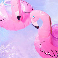 Flamingo Drink Holder Pool Float Set | Urban Outfitters