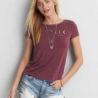 AEO Soft & Sexy Graphic T-Shirt , Burgundy
