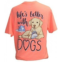 Southern Attitude Preppy Life's Better With Dogs T-Shirt