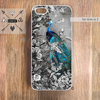 Peacock iPhone Case , iPhone 5 Case, Floral iPhone 4s Case, iPhone 4 Case, Vintage Style Cases By Csera Copyright 2013