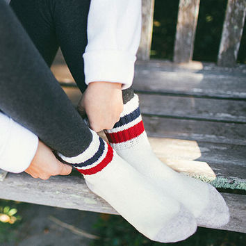 Womens 3Pcs Winter Warm Knited Wool Socks Gift