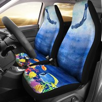 Scuba Scene Car Seat Covers
