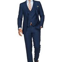 Suit Blue Check Lazio P3548i | Suitsupply Online Store