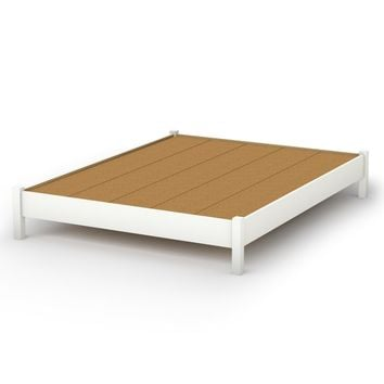 Queen size Platform Bed in Pure White Finish