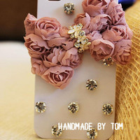 Pure handmade bows lace iphone 5 case iphone 4 case iphone 4s case iphone cover