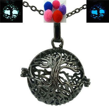 Glow Tree Locket Necklace Essential Oil Aromatherapy Diffuser