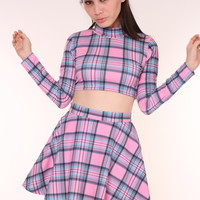 Glitters For Dinner — Made To Order - Melody Pink & Blue Tartan Set