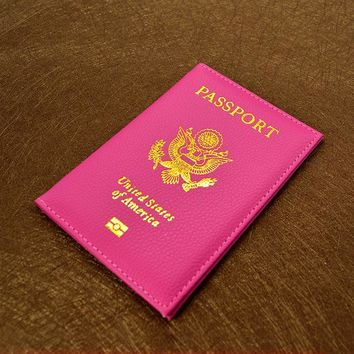 Glam color detail passport case cover