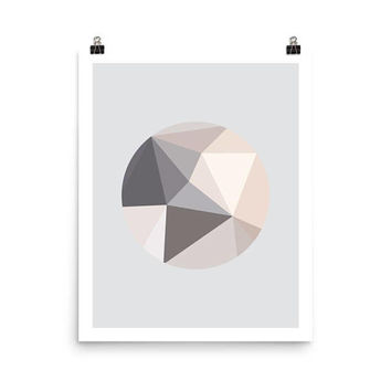 pink, gray, abstract art, geometric print, abstract wall art, abstract print, minimalist, triangle art, modern wall art, simple prints