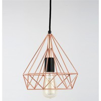 """Birte"" Pyramid Copper Wire Pendant Lamp"