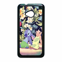 Lilo And Stitch Dancing Floral HTC One M7 Case