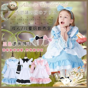 946fc068c2b Little Kids Girl Lolita Cute Dress Pink Princess Cinderella Maid