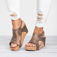 Gladiator Platform Women Wedges Trifle Open Toe High Sandals