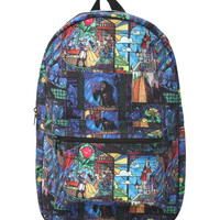 Disney Beauty And The Beast Stained Glass Backpack