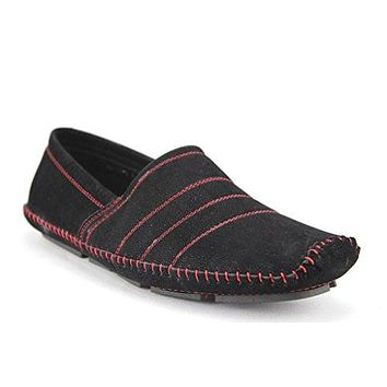 New Men's M4010-6 Moccasin Suede Contrast Stitch Loafer Shoes