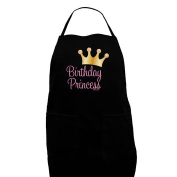 Birthday Princess - Tiara Dark Adult Apron by TooLoud