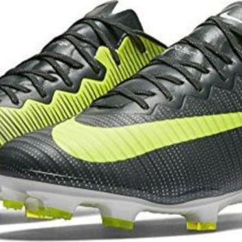 ESBON Nike Mercurial Vapor XI CR7 FG Mens Football Boots 852514 Soccer Cleats (US 12.5, seaweed volt hasta 376)
