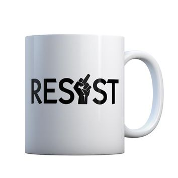 Resist Finger Gift Mug