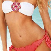 Bandeau Crystal Bikini  from SunsetFashion