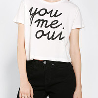 Urban Outfitters - Silence + Noise You, Me, Oui Cropped Tee