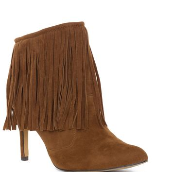 Wild West Fringe Booties - Tan