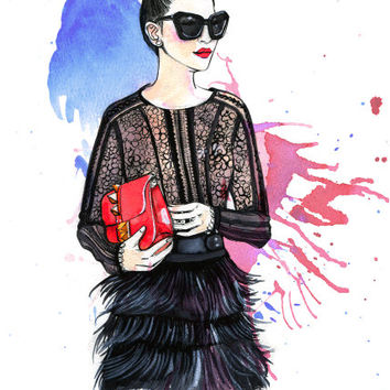 Custom illustration, illustration for Logo/Headers/Business Cards Featuring a Fashion Illustration