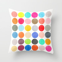 Color Play 1 Throw Pillow by Garima Dhawan