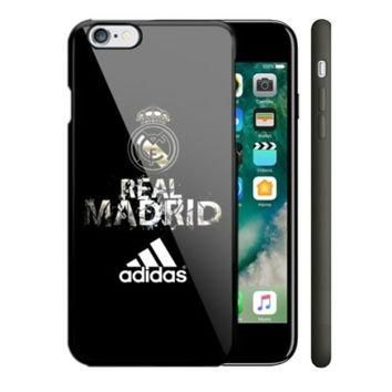 Hot Real Madrid Adidas Black For iPhone 7 and 7 Plus Hard Plastic Case