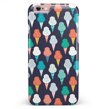 The All Over Teal and Green Ice Cream Cones iPhone 6/6s or 6/6s Plus INK-Fuzed Case