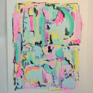 Contemporary abstract modern art painting