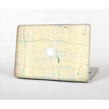 The Vintage Faded Colors with Cracks Skin Set for the Apple MacBook Air 13""