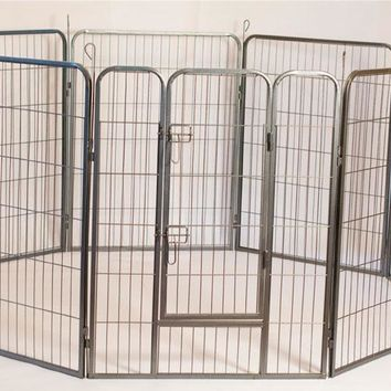 Iconic Pet - Heavy Duty Metal Tube pen Pet Dog Exercise and Training Playpen - 40in Height
