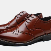 Mens Classic Brogue Dress Shoes
