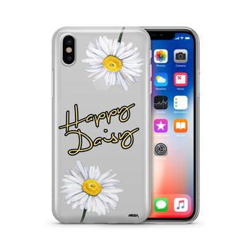 Happy Daisy - Clear TPU Case Cover Phone Case