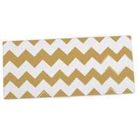 "KESS Original ""Candy Cane Gold"" Chevron Desk Mat"