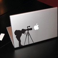 "Photographer - Decal for laptops, Macbook Pro, Air, Retina availble in 11"" 13"" 15"" 17"""