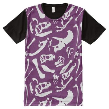 Dinosaur Bones (Purple) All-Over-Print Shirt