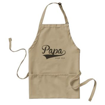 Papa Since Swash Typography Adult Apron