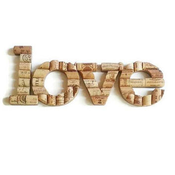 Wine cork letter word love, wine cork crafts, home decor, sign, wedding decoration