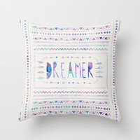 DREAMER Throw Pillow by Bianca Green
